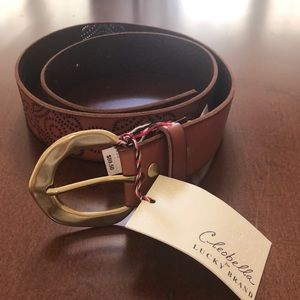 Cleobella for Lucky Brand Brown Leather Belt -Sz S